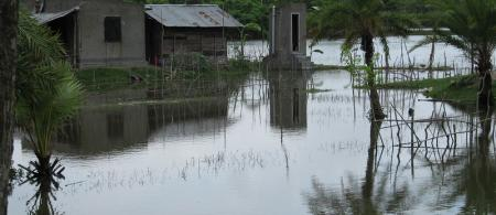 Cyclone Aila struck southern Bangladesh and eastern India on 27th May 2009.