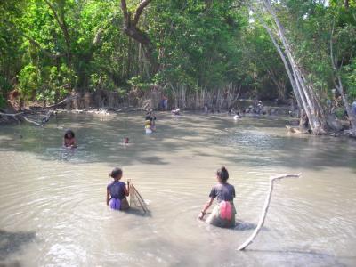 Women fishing East Timor