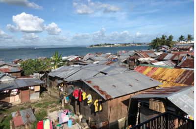 Barangay Anibong in Tacloban (Philippines), hit by Super Typhoon Yolanda on 8 November 2013, which delivered 7-metre high storm surges and wind speeds of 315 km/hour. Photo: Albert Salamanca/SEI
